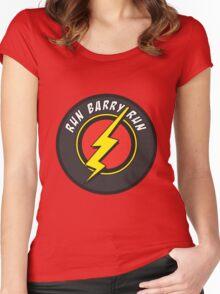 RUN BARRY RUN Women's Fitted Scoop T-Shirt