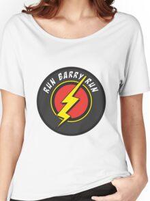 RUN BARRY RUN Women's Relaxed Fit T-Shirt