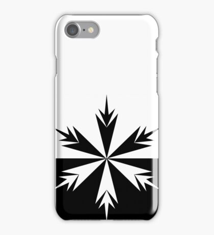 Positive Negative Snow Flake iPhone Case/Skin