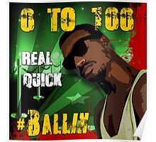 0 to 100...Real Quick   # Ballin Poster