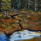 ACRYLIC - The old Moose Swamp by loralea