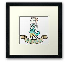 Pearl Ribbon Framed Print