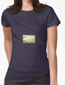 Flower wave Womens Fitted T-Shirt