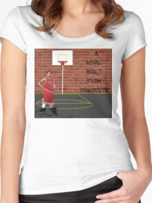 rose built from concrete Women's Fitted Scoop T-Shirt