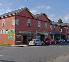 Mole Creek Hotel, Tasmania, Australia by Margaret  Hyde