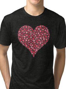 Watercolor Rose Heart Tri-blend T-Shirt