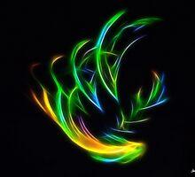 V Flame by Christopher Johnson