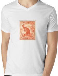 Kangaroo stamp Mens V-Neck T-Shirt