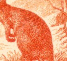 Kangaroo stamp Sticker
