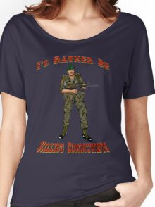 I'd Rather Be Killing Communists, Reagan Style Women's Relaxed Fit T-Shirt