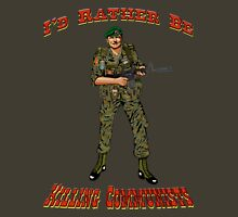 I'd Rather Be Killing Communists, Reagan Style Unisex T-Shirt