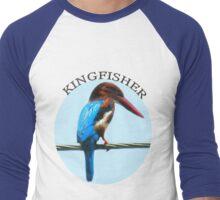 <º))))><KINGFISHER TEE SHIRT-PILLOWS-TOTE BAG-BOOK ECT<º))))><      Men's Baseball ¾ T-Shirt