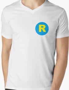 Running Man R logo Mens V-Neck T-Shirt