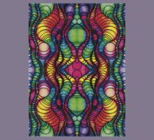 Colorful Tube Worms in Symmetry Kids Clothes