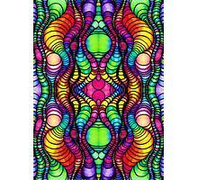 Colorful Tube Worms in Symmetry Photographic Print