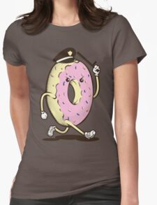Donut Run From The Law Womens Fitted T-Shirt