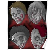 zombie heads Poster