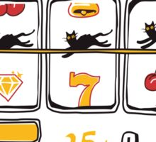 Slot Machine Of Life Sticker
