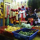 Flower Seller in Little India - Singapore by Nupur Nag
