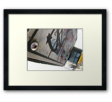 Push to Cross Framed Print