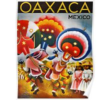 Oaxaca Mexico Vintage Travel Poster Restored Poster