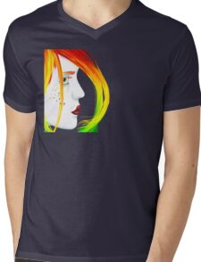 Unbalanced Mens V-Neck T-Shirt