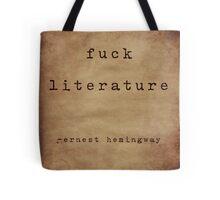 Hemingway On Literature Tote Bag