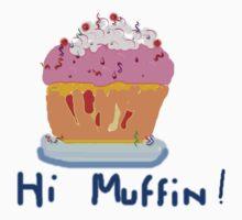 HI MUFFIN (pink) T SHIRT by Shoshonan