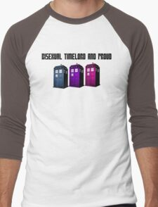 Bisexual Timelord and Proud Men's Baseball ¾ T-Shirt