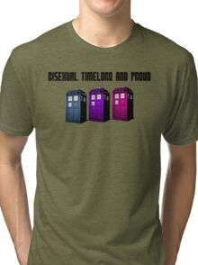 Bisexual Timelord and Proud Tri-blend T-Shirt