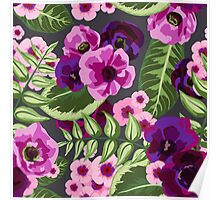Pink and Purple Floral Expolosion Poster