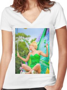 Tinkerbell Women's Fitted V-Neck T-Shirt