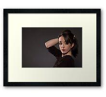 A Modelling Portrait of Chloe Jane Framed Print