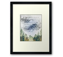 The Road Goes Ever On Framed Print