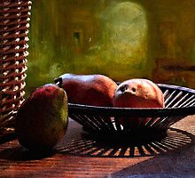 Pears in Morning Light - Mixed media by Larry3