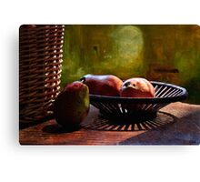 Pears in Morning Light - Mixed media Canvas Print