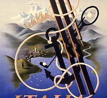 Italia Italy Vintage Travel Poster Restored by Carsten Reisinger