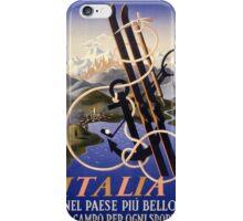 Italia Italy Vintage Travel Poster Restored iPhone Case/Skin