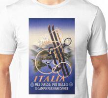 Italia Italy Vintage Travel Poster Restored Unisex T-Shirt