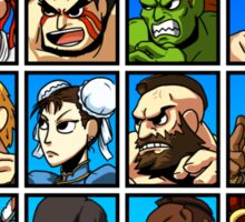 Street Fighter Player Select Sticker