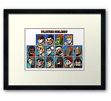 Street Fighter Player Select Framed Print