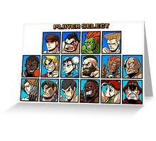Street Fighter Player Select Greeting Card
