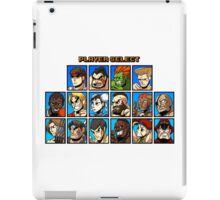 Street Fighter Player Select iPad Case/Skin