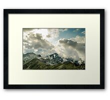 Cloudy day in Retezat mountains Framed Print