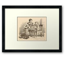 Five Mice in a Mouse Trap Laura Elisabeth Howe Richards and Kate Greenaway 1881 0221 Breakfast Framed Print
