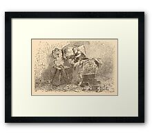 Five Mice in a Mouse Trap Laura Elisabeth Howe Richards and Kate Greenaway 1881 0231 Good Bye Framed Print