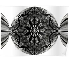 Black and white pattern pinched Poster