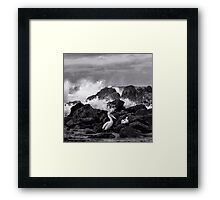 That was a close one! Framed Print