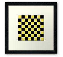 Beautiful Cushions / Collection/ BC Yellow Checks Framed Print