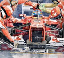 Ferrari F 2012 Fernando Alonso Pit Stop Sticker